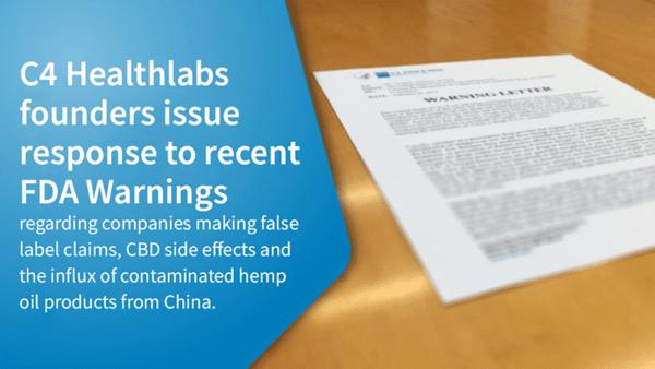 C4 Healthlabs Response to FDA Warnings