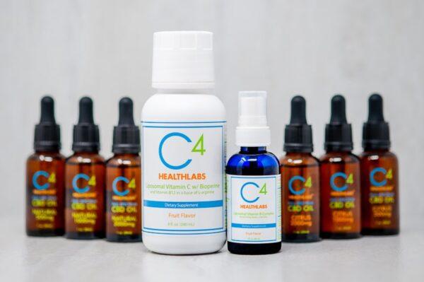 C4 Healthlabs Liposomal Vitamin B Complex, Vitamin C, and Full Spectrum CBD Product Lineup