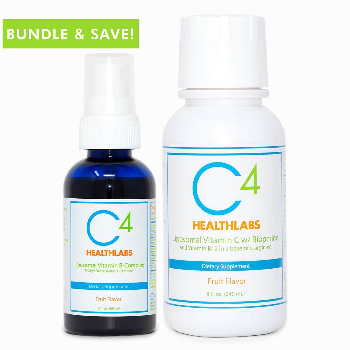 C4 Healthlabs Liposomal Vitamin Immunity Bundle