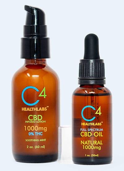 c4 healthlabs cbd oil and cbd lotion